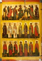 Deesis with selected saints